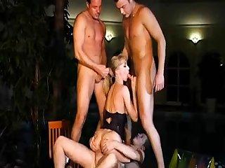 Sasha Grey gangbang with a horny cock group