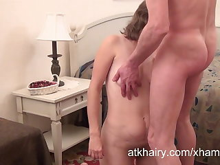 Hairy Milf Olga gets her cock
