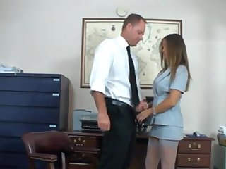 Mom secretary fucks her boss