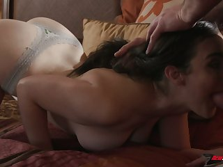 Pretty and romantic GF Lyra Lockhart loves nothing but riding her stud