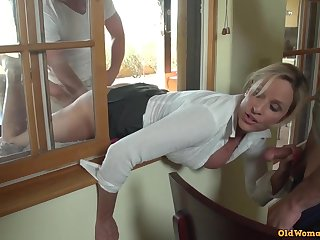 Jodi West got boned from behind while leaning thru an open window, and loved it a pile