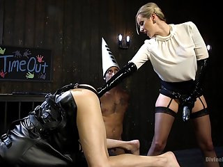 Helpless male slave gets tortured by Maitresse Madeline Marlowe