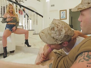 Cay couple is having crazy sex fun with mouth watering milf Rachael Cavalli