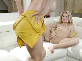 Charming MILF enjoying oral sex with a pretty young woman