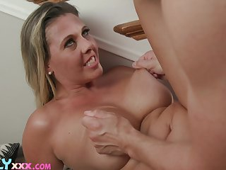 Cougar mom wants some fresh jizz on those fine melons