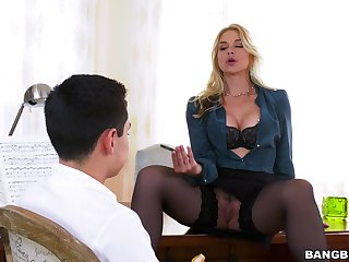 Busty office MILF is in for a tasty surprise