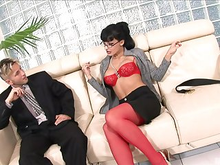 Brunette chick Aletta Ocean opens her legs to be fucked hard