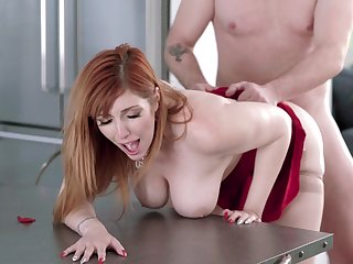 Fucking a thick ass redhead mom and making her scream